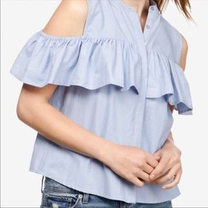 Lucky Brand | Cold Shoulder Ruffle Top